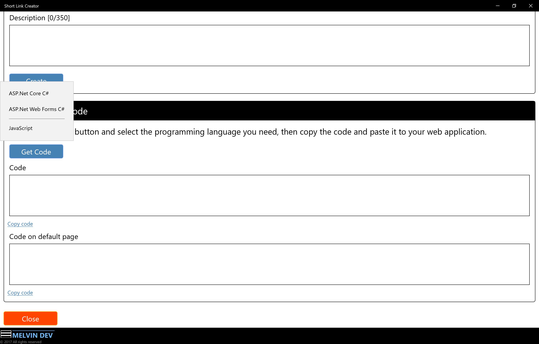 Melvin Dev - Redirecting short link using JavaScript code
